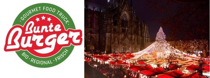 Weihnachtsmarkt am Kölner Dom 2017 |Bunte Burger