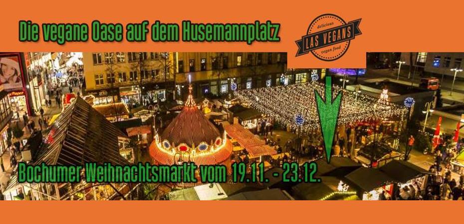 Veganer Stand von Las Vegans | Bochumer Weihnachtsmarkt