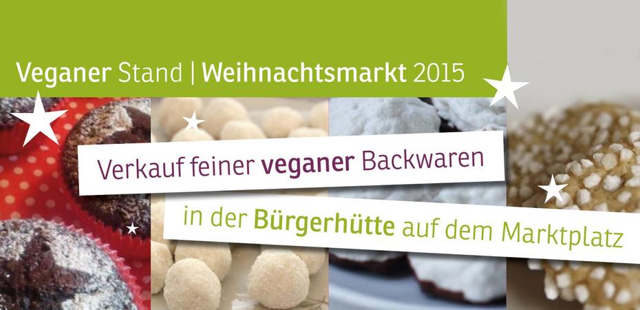 Veganer Stand in der Bürgerhütte | Heidelberger Weihnachtsmarkt
