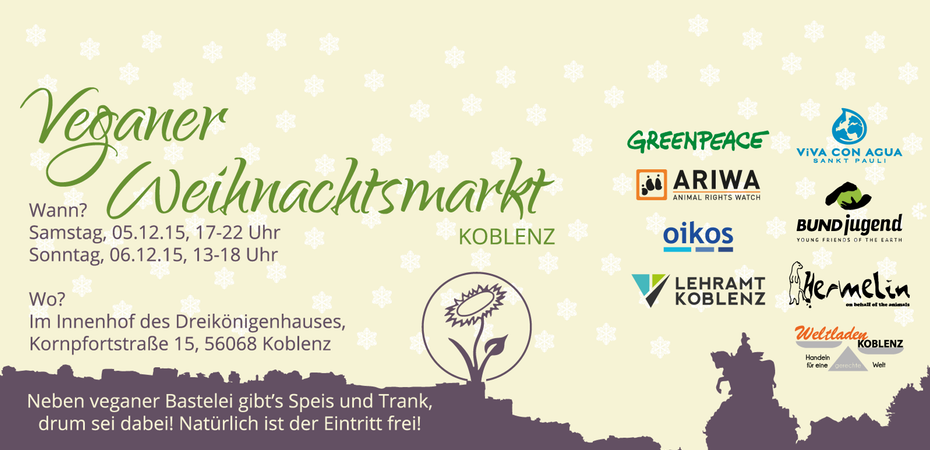 veganer weihnachtsmarkt koblenz superveganer. Black Bedroom Furniture Sets. Home Design Ideas