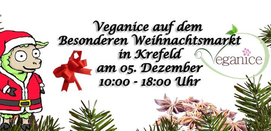 Veganer Stand | Veganice e. V. | Besonderen Weihnachtsmarkt Krefeld